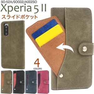 Smartphone Case Xperia SO SO SO Ride Card Pocket Notebook Type Case
