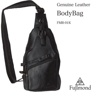 Fuji Genuine Leather Body Bag Black