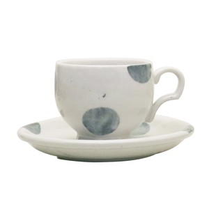 Dot Cup Saucer White