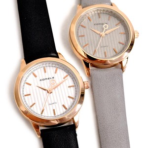 MAGGIO Image Dial Stripe Face Leather Watch Wrist Watch
