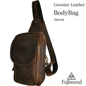 Fuji Genuine Leather Body Bag Cocoa C2
