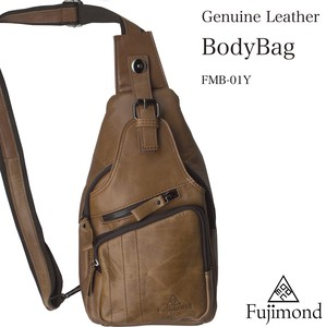 Fuji Genuine Leather Body Bag Camel