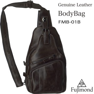 Fuji Genuine Leather Body Bag Brown