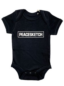 Band Sketch Alphabet Reflector Print Baby Suits Black