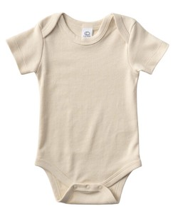colored 100 Organic Cotton Short Sleeve Baby Suits Natural
