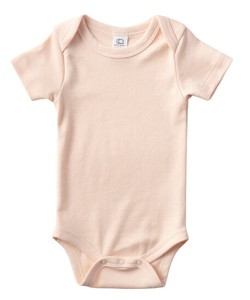 colored 100 Organic Cotton Short Sleeve Baby Suits Rossa Pink