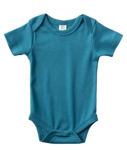 colored 100 Organic Cotton Short Sleeve Baby Suits Navy
