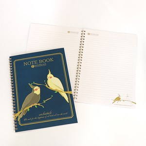 Small Birds Cafe Ring Notebook Parakeet B5 size