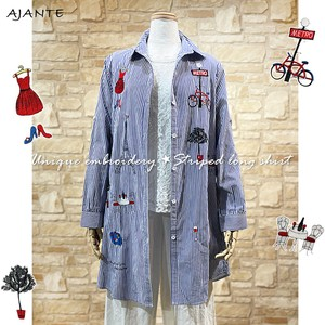 20 Unique Embroidery Stripe Shirt One Piece