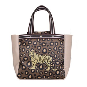 Tipi Cow Leather Flap Attached Tape Leopard Bag