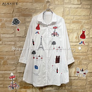 20 Unique Mood Embroidery White Shirt One-piece Dress