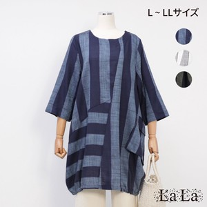 [2021 New Product] LL Thick Stripe Fabric Balloon Tunic