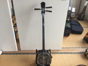 名人内間直樹クーユナ型スンチ仕上げ本皮8.5分張り仕上げ 沖縄伝統楽器三線