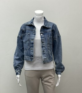 [2021 New Product] Lace Tape Button Denim Jacket