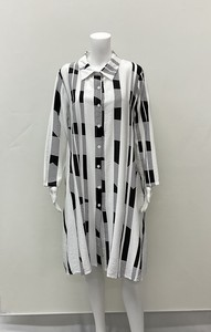 [2021 New Product] Stripe A line Long Blouse