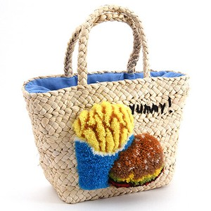 20 New Burger Solid Embroidery Tote Bag