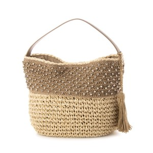 Cut Beads Weaving Shoulder Bag