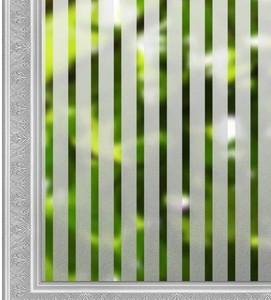 窓ガラスフィルム 窓用目隠しシート 窓飾りシート UV紫外線カット ガラス飛散防止 カラー:ボーダー