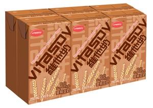 ビタソイ 麦芽豆乳250ml 6個紙パック入り 【維他奶】【Vitasoy】
