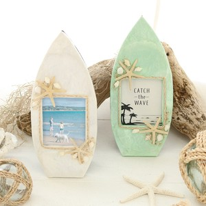 Capiz Photo Frame Surf Board Shell