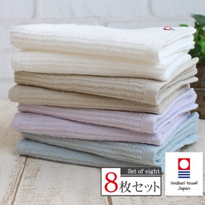 IMABARI TOWEL Face Towel White Pale Color 8 Pcs Set Fast-Drying