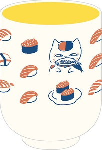 Friend Cat Teacher Japanese Tea Cup Sushi