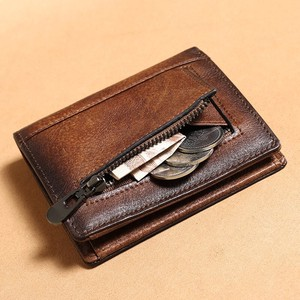 Wallet Wallet Men's Cow Leather Two 20 20 Genuine Leather Pocket Coin Purse