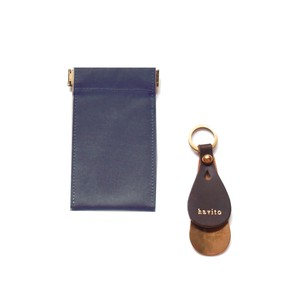 Pouch Attached Leather Shoehorn