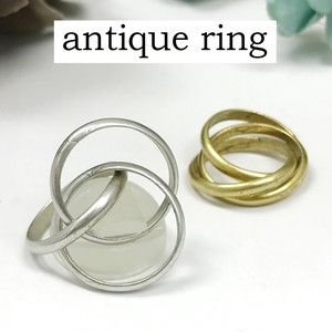 Mount Attached Brass Ring Triple Nickel Free Antique Color Ring Ancient Ancient