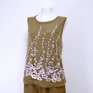 Floral Pattern Lace Tank Top