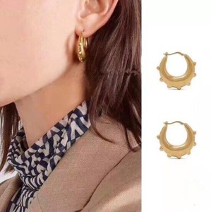 Post Handmade Pierced Earring Gold Accessory Parts Earring