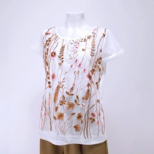 Floral Pattern Lace French Sleeve T-shirt 2 Pattern