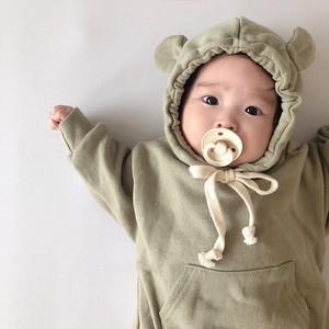【即納KID】ベビー服 長袖ロンパース お熊さん 可愛い