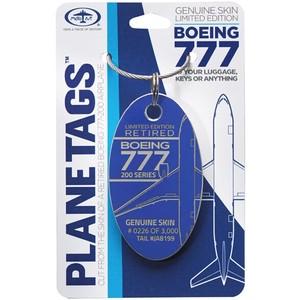 PLANETAGS B777 JA8199 Blue ANA 全日空 プレインタグス 機体キーホルダー