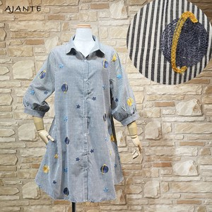 20 Galaxy Embroidery Stripe Shirt One-piece Dress