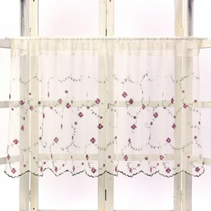 Rose Lace Cafe Curtain