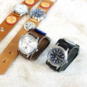 4 Colors Leather Vintage Processing Watch Made in Japan