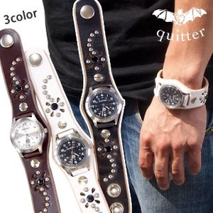 Leather Flower Studs Watch Maid Japan