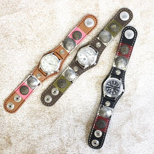 Vintage Coin Border Patch Watch Made in Japan