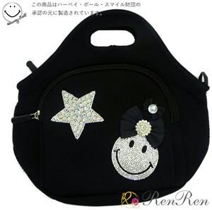 キラキラスマイル星ネオプレーン デコ雑貨 キラキラ雑貨 日本製 手作り デコパーツ 鞄