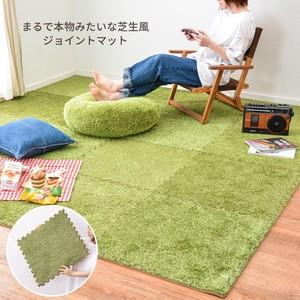 ふっくら贅沢な芝生風ジョイントマット 「シーヴァ」 【約60×60cm,9枚セット】