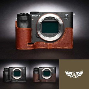 TP Original SONY α7C 専用 レザー カメラケース 3colors ソニー 本革 牛革 カメラ用品