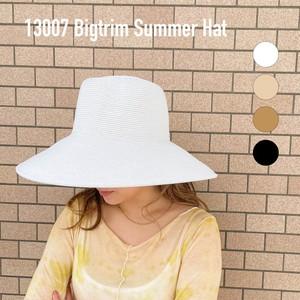 【即納商品】13004  Big trim Hat つば広サマーハット