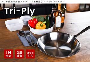 【STG Design Labo】Tri-ply 3層構造高級ステンレス 片手鍋
