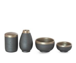 信楽焼の骨壷と三具足セット INORI 明星 手元供養 手作り陶器骨壺 伝統技術 日本遺産