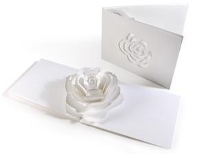 咲くようにひらく 花のポップアップグリーティングカード〈ローズ〉
