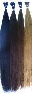 人毛100% チップ式 エクステンション 約50cm 約20g 4色