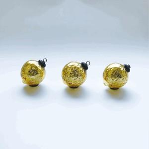 【予約販売】シャイニー ゴールド L 3個入り/クリスマスオーナメント グラスボール