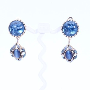 イヤリング ボヘミアングラス ブルー 150748