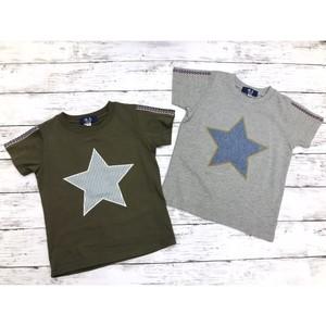 オリジナル 半袖Tシャツ 90 95 100 110 120 130 140 ワンスター ヒッコリー 星柄 綿100%